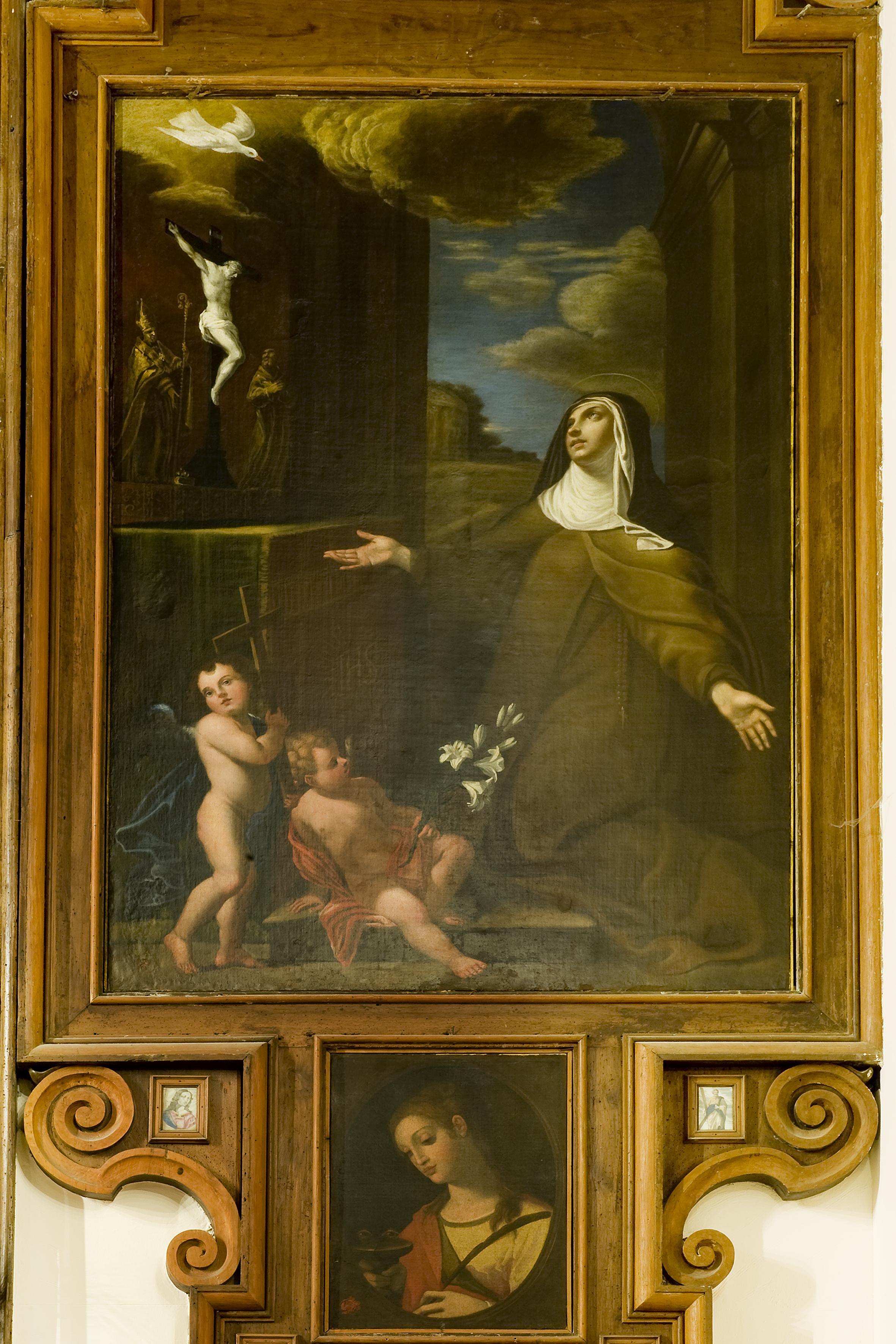 Fra Semplice da Verona, Beata Lucia da Caltagirone, olio su tela, sec. XVII