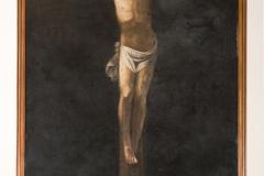 Mario Minniti, Crocifisso, olio su tela, sec. XVII